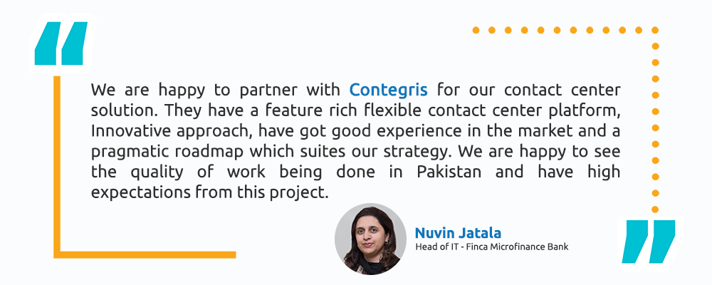Nuvin Jatala – Head of IT - Finca Microfinance Bank - Intellicon - Testimonial