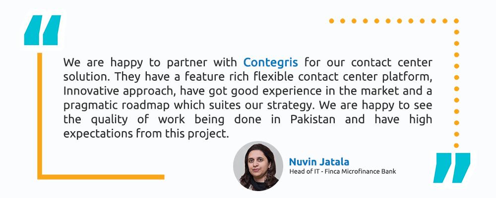 Nuvin Jatala – Head of IT - Finca Microfinance Bank - Intellicon - Testimonial