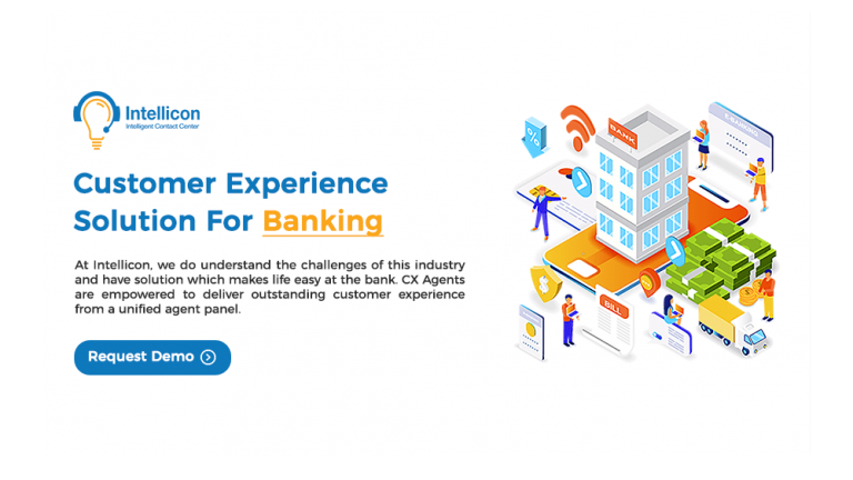 Customer Experience Solution For Banking - Intellicon - Intelligent Contact Center