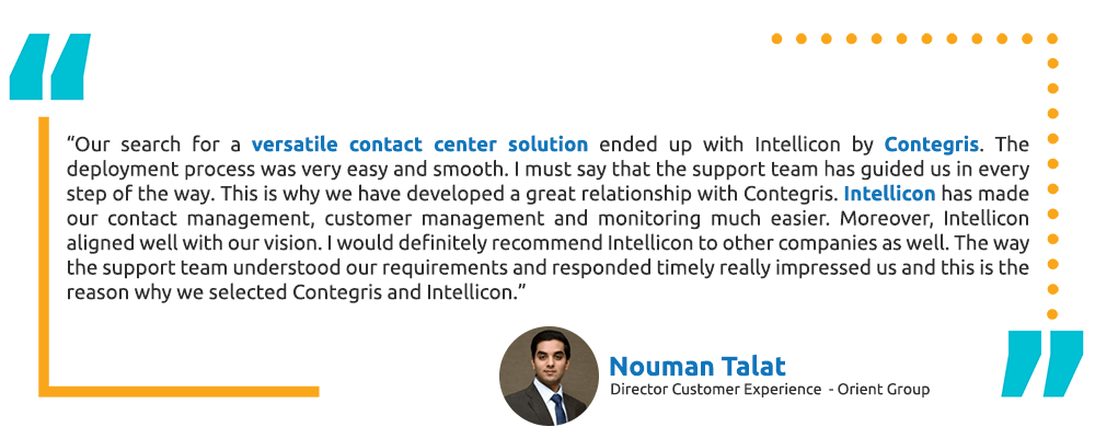 Mr. Nouman Talat - ORIENT Group